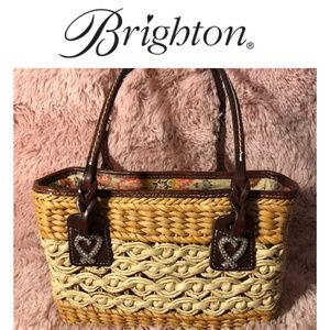 Brighton straw/basket weave handbag